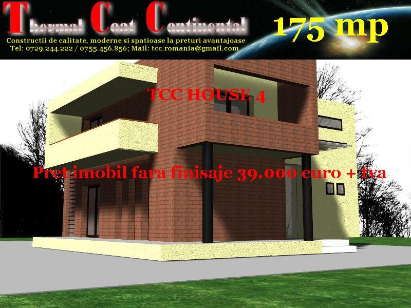 Case noi: TCC HOUSE 4, P+E=175 mp
