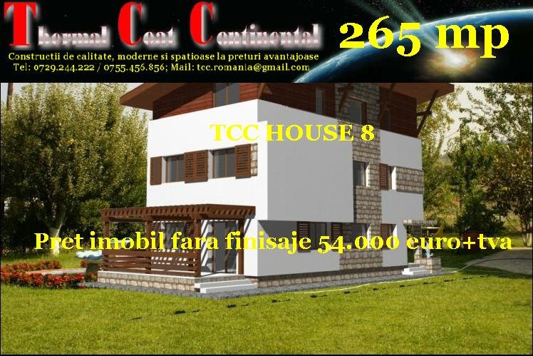 Vile noi: TCC HOUSE 8, P+E+M=265 mp