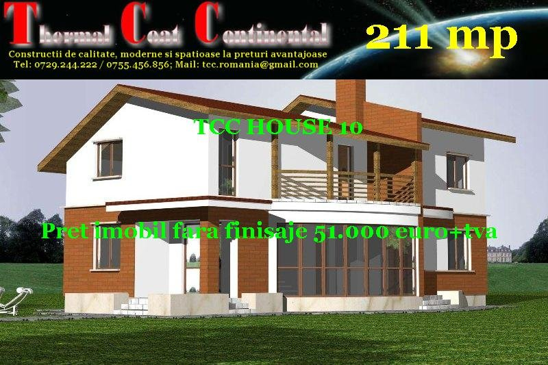 Case noi: TCC HOUSE 10, P+E=211 mp