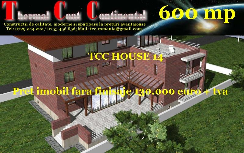Vile noi: TCC HOUSE 14, P+2E=600 mp