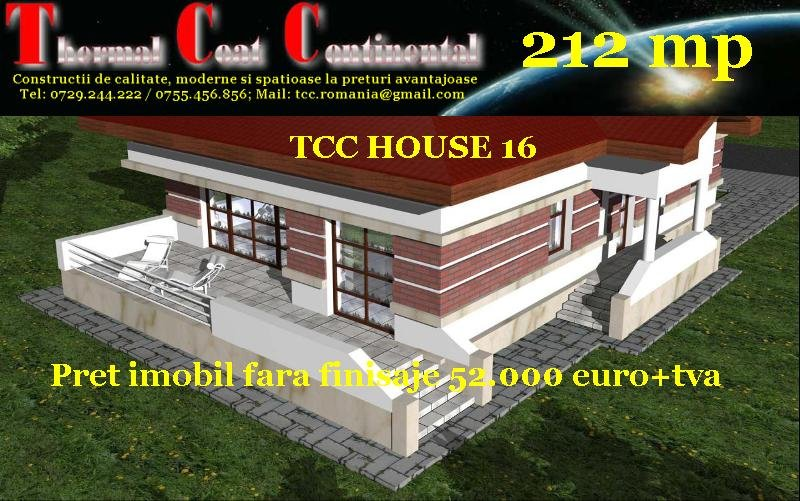 Case noi: TCC HOUSE 16, Su=212 mp